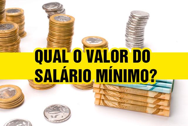 Qual o valor do salário mínimo?