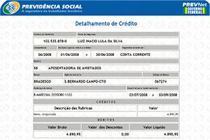 Extrato INSS comprovante de renda