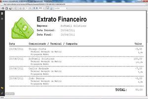 Extrato de aplicação financeira comprovante de renda