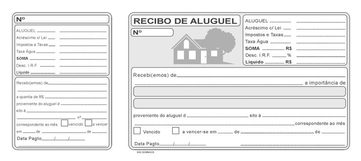 Modelo de Recibo de aluguel residencial