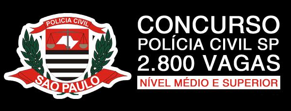 Vagas Concurso Polícia Civil SP