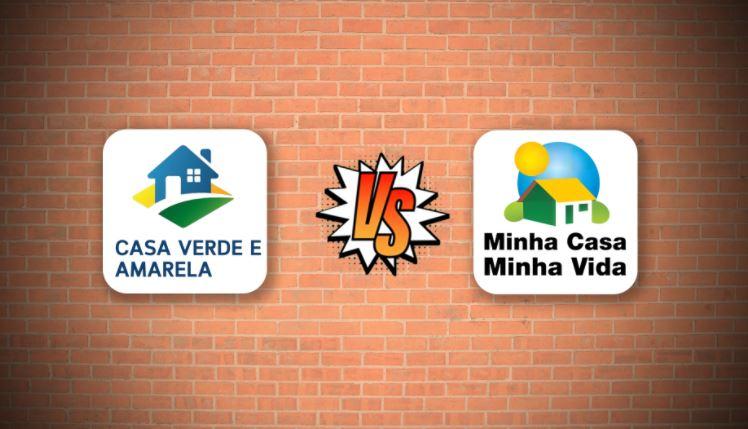 Diferença entre o Casa Verde Amarela e o Minha Casa Minha Vida
