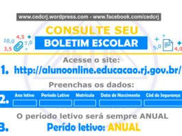 Boletim Escolar RJ 2022