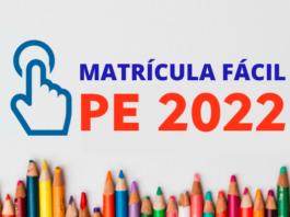 Matrícula SEDUC PE 2022