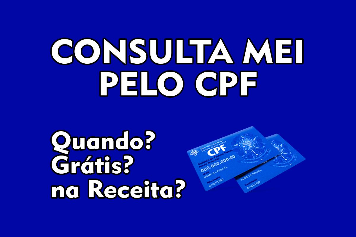 Consulta MEI pelo CPF