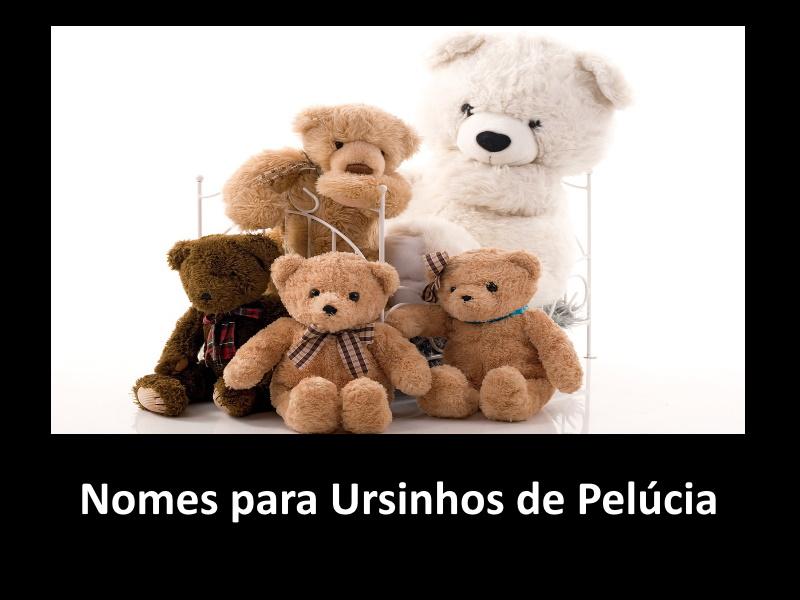 Nomes para Ursinhos de Pelúcia
